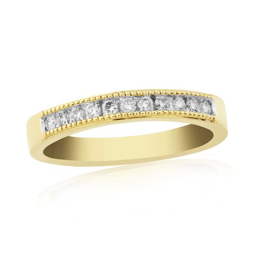 Yellow Gold Diamond Channel Set | Eternity Ring | DR897